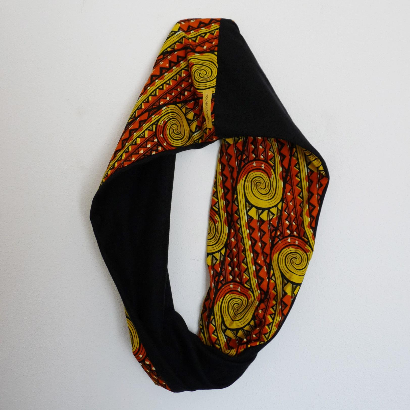 Echarpe tour du cou en tissu africain