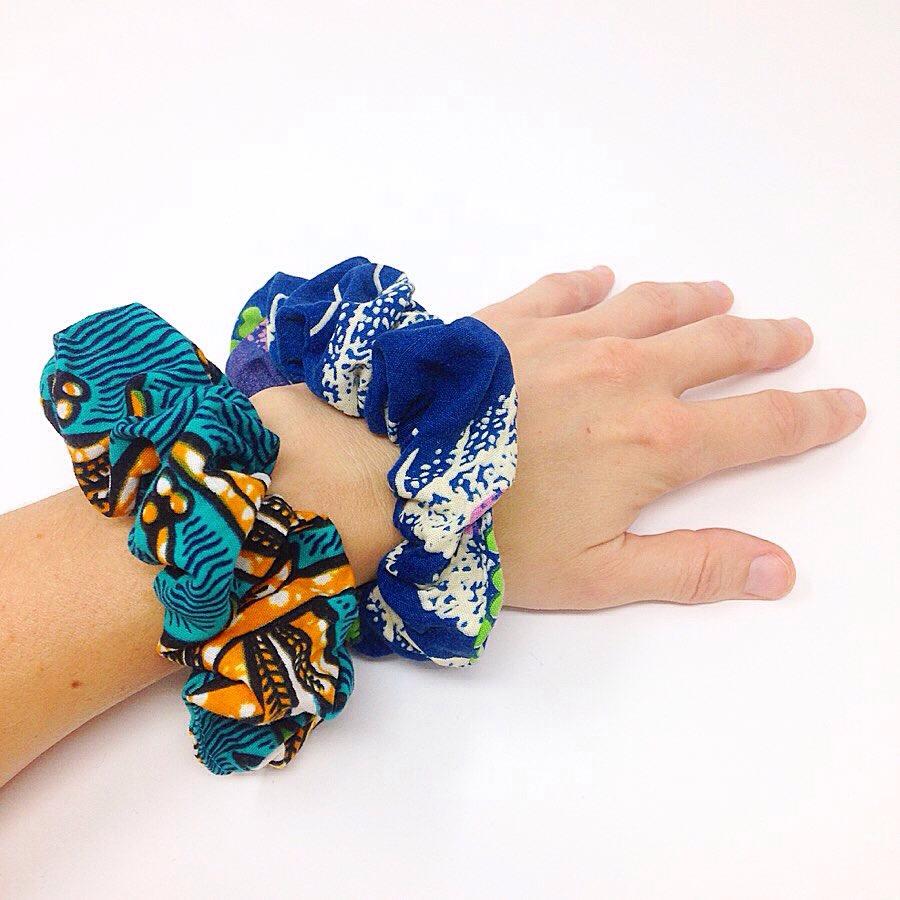 Chouchou en tissu africain wax