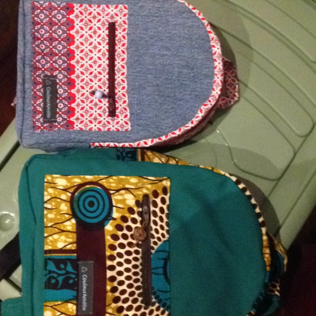 Sac à dos avec tissu africain wax