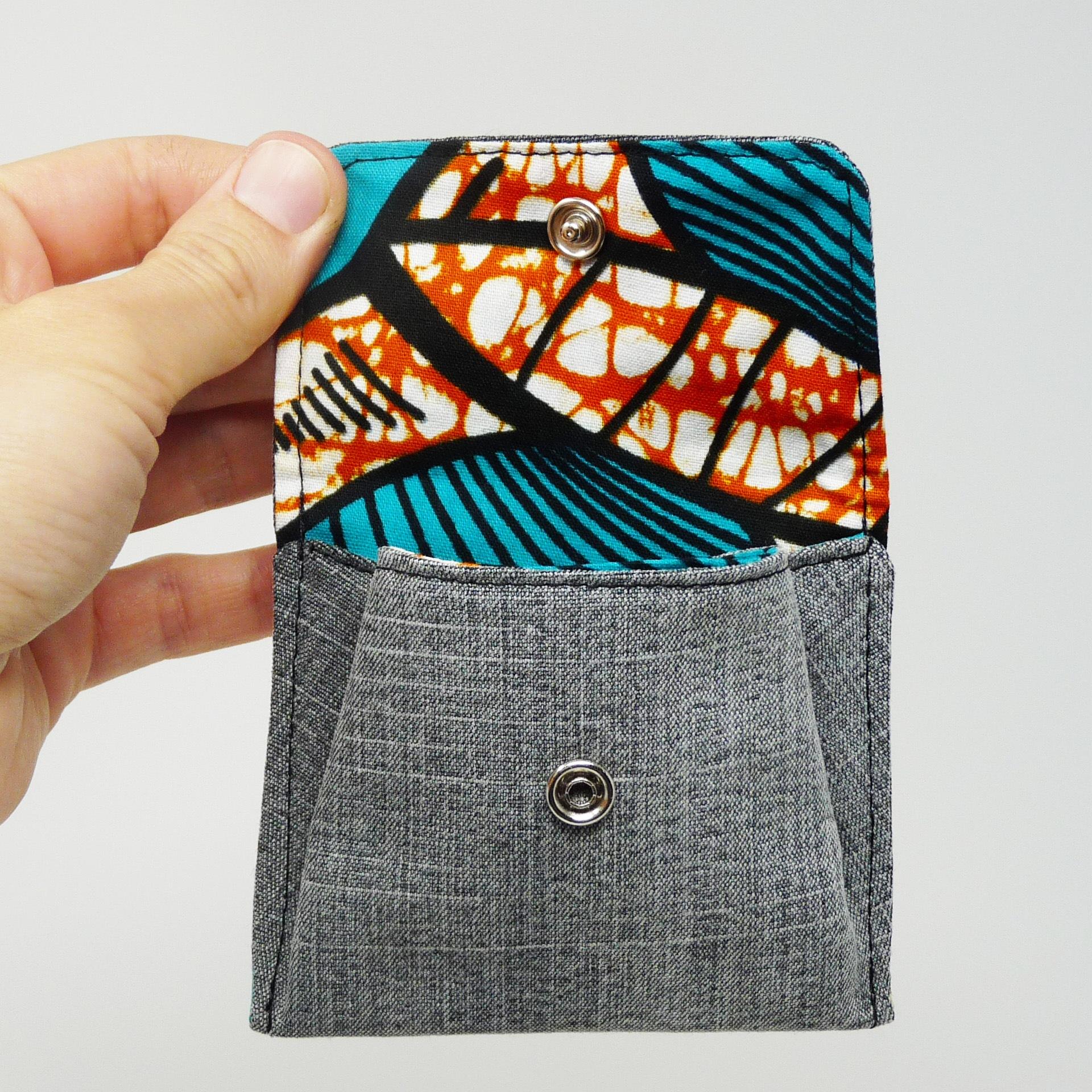 Porte-monnaie en tissu africain wax