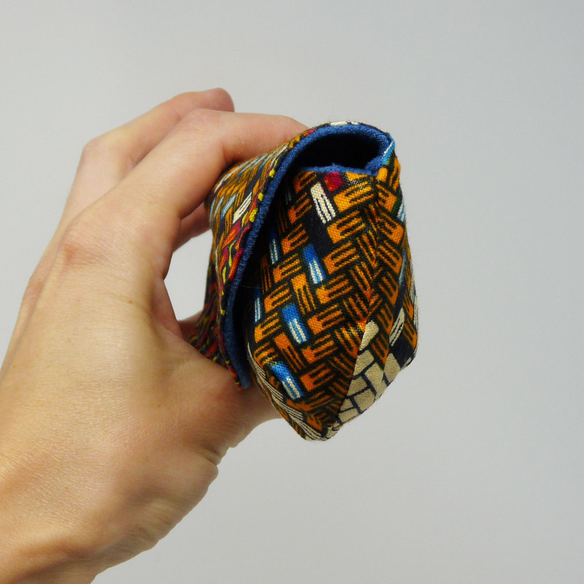 Etui à lunettes souple en tissu africain wax