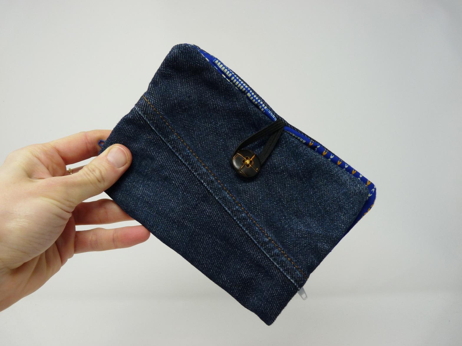 Portefeuilles en wax et jeans