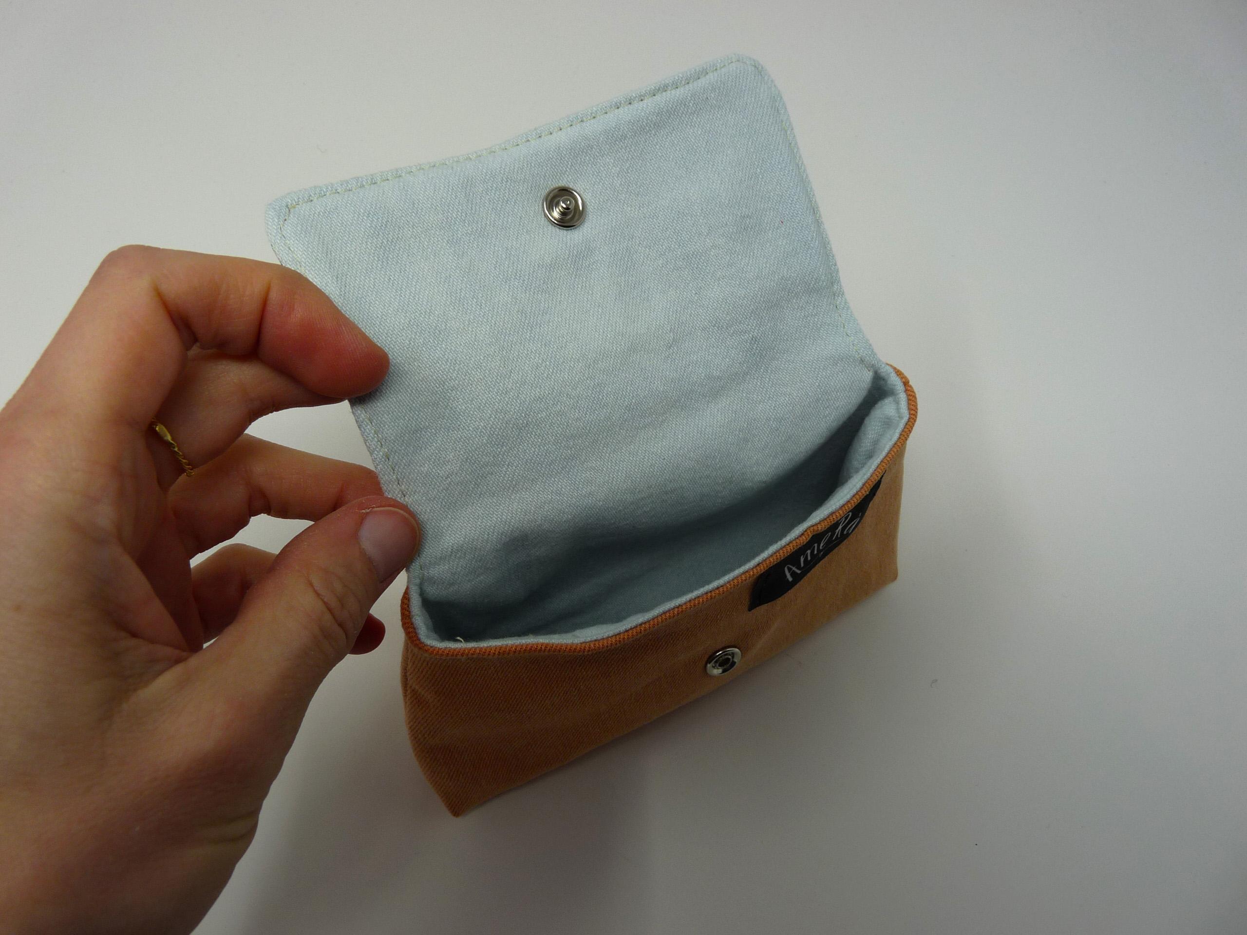 Petite pochette avec tissu japonais